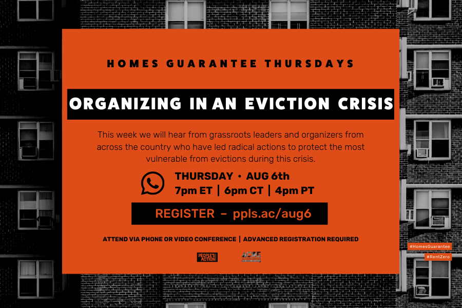ARCHIVED: Organizing In An Eviction Crisis – Aug 6