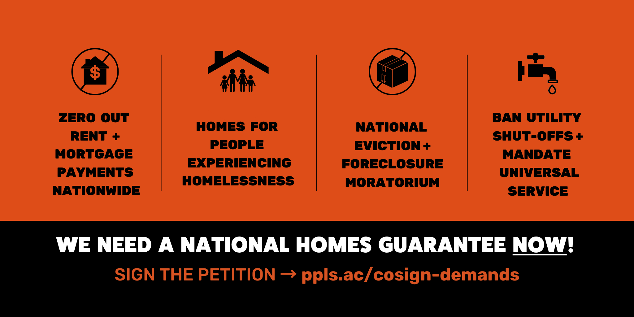 ADD YOUR SIGNATURE: COVID-19 Emergency Housing Demands