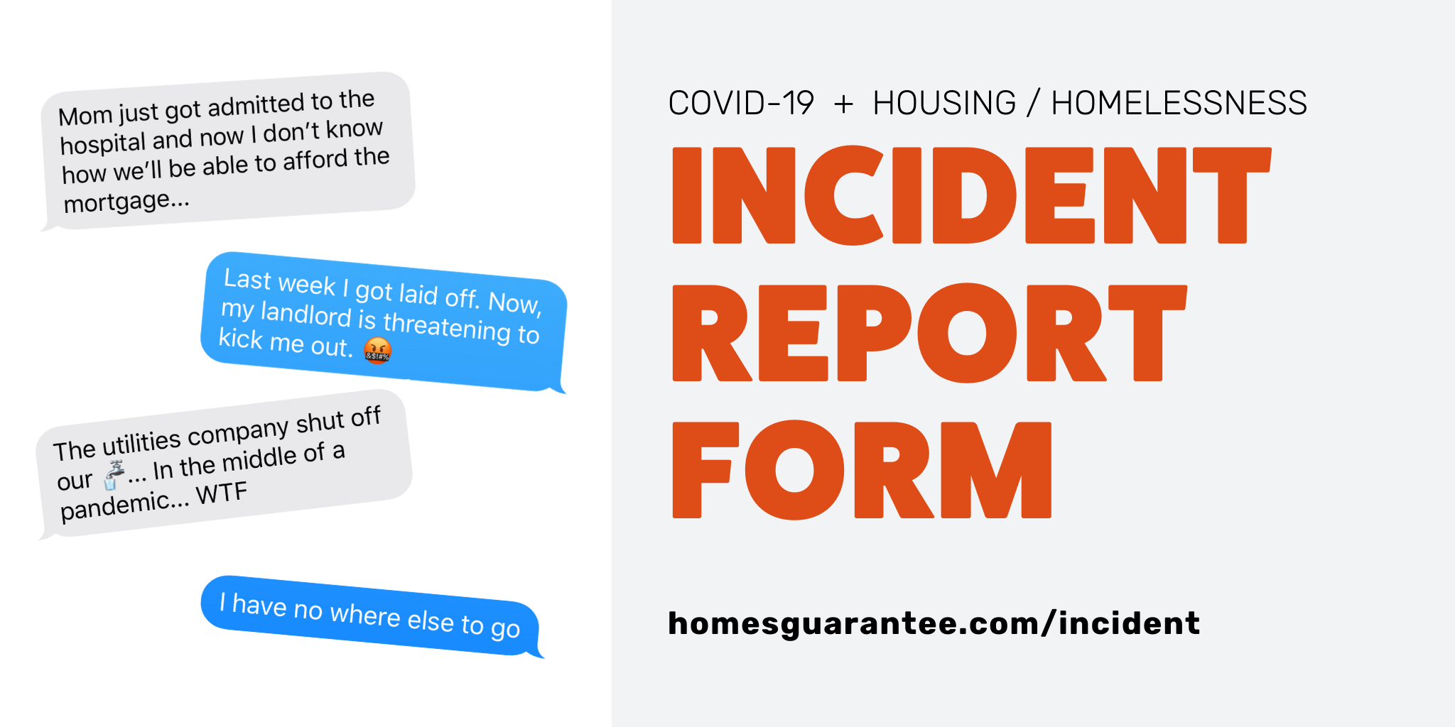 Submit a COVID-19 Housing Incident Report