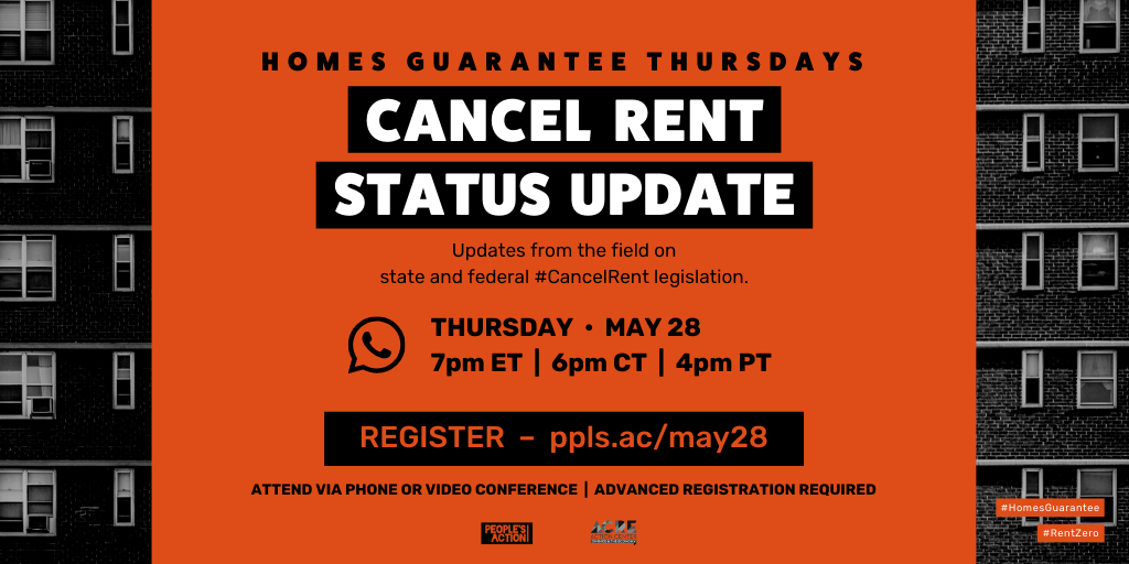 ARCHIVED: REGISTER: Cancel Rent Status Update – May 28