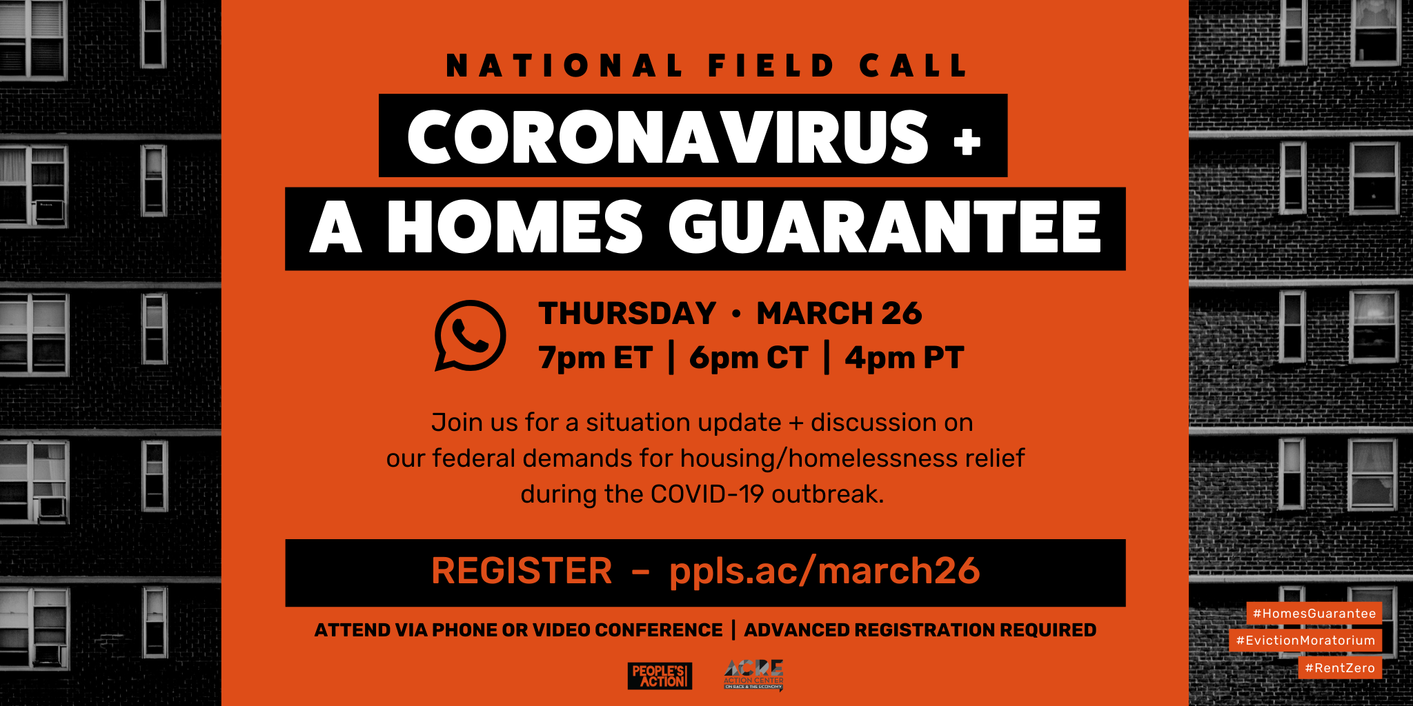ARCHIVE: National Field Call on Housing/COVID-19 – March 26