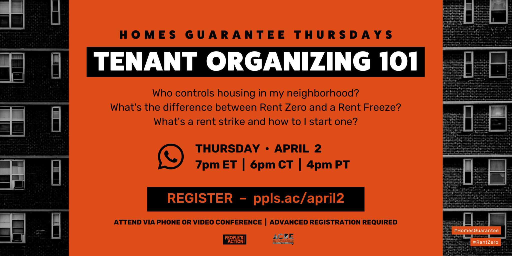 ARCHIVE: Tenant Organizing 101 – April 2