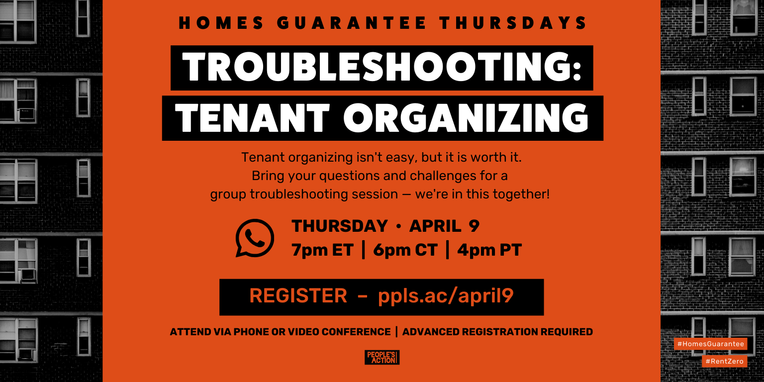 ARCHIVE: Troubleshooting: Tenant Organizing – April 9