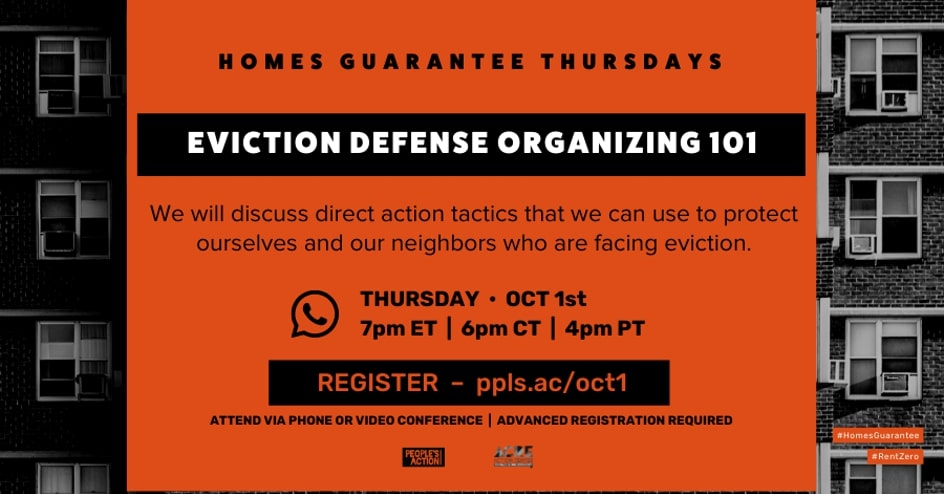 ARCHIVED: Eviction Defense Organizing 101 – Oct 1